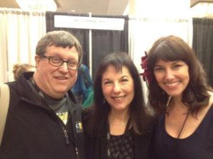DJ Bob McWilliams KPR/KANU & Erin McGrane from Victor & Penny at Folk Alliance 2015