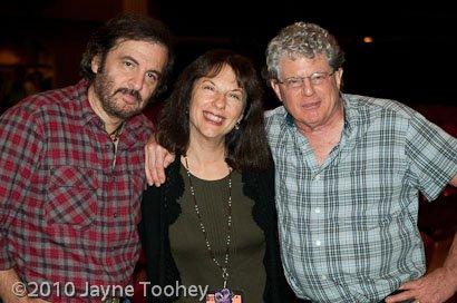 Kari with Michael Jonathon and Si Kahn