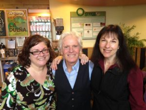 Kari Estrin with Americana Radio Promoter Leslie Rouffe and the legendary Billy Block