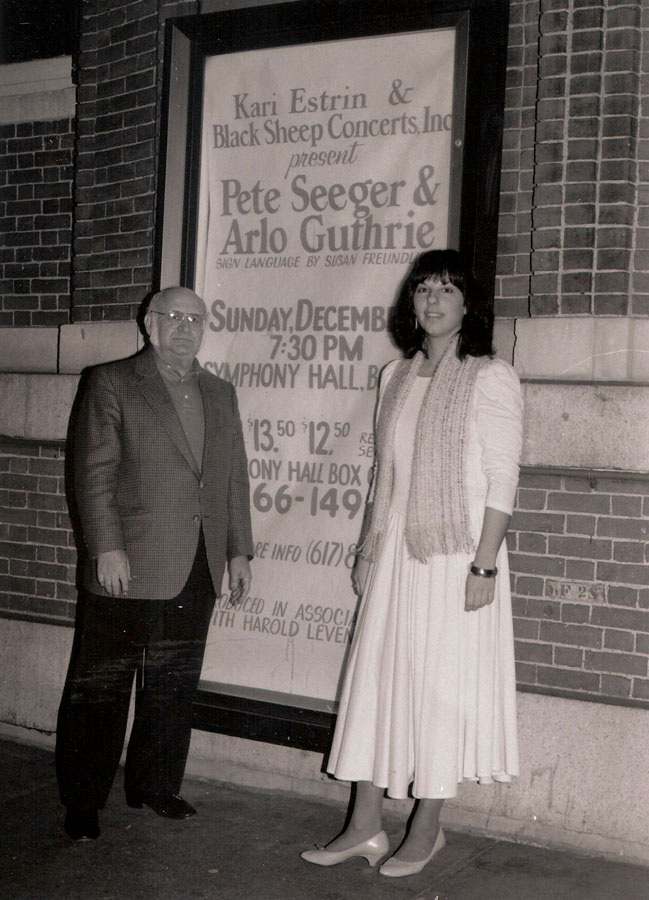 Legendary Promoter/Manager Harold Levanthal who asked Kari to promote Pete and Arlo