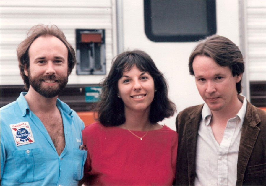Geoff Bartley, Kari and Bill Morrissey Backstage at a festival
