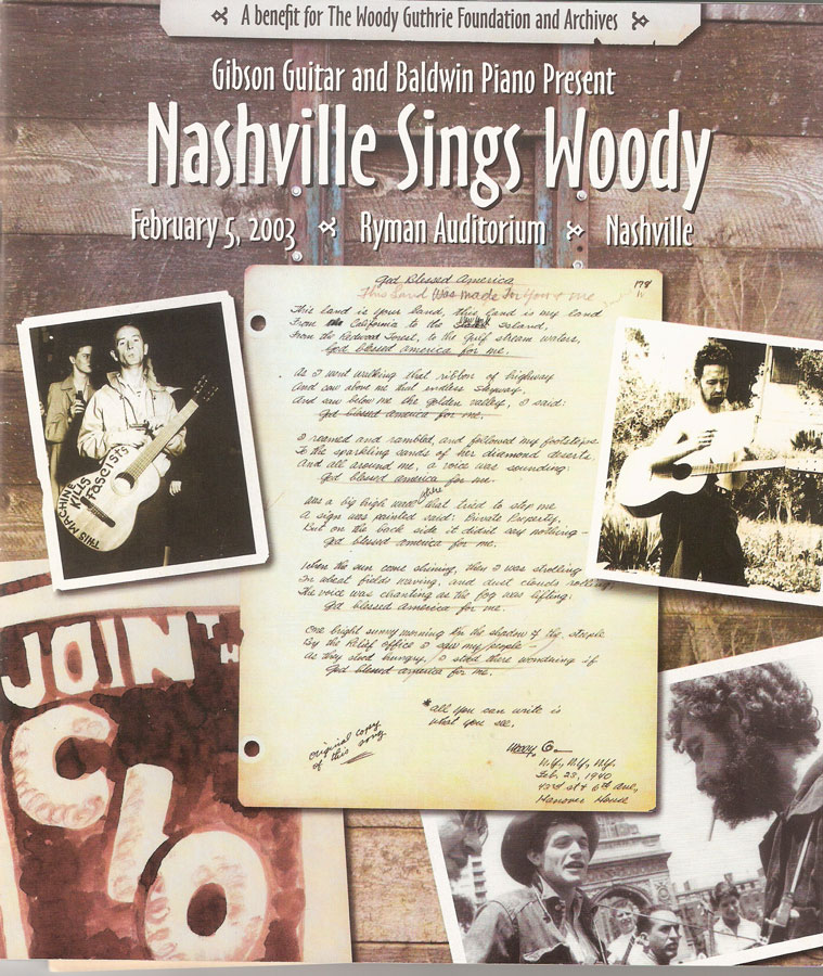 Program book from Woody Month that Kari produced 2003