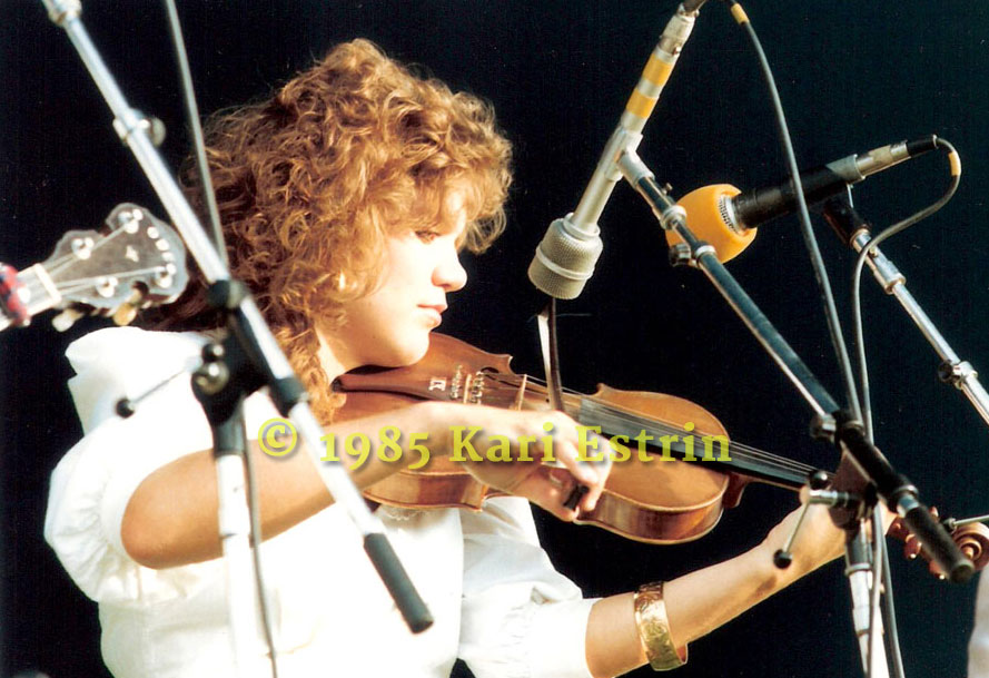 A young Alison Krauss at Vancouver Festival mid-80's